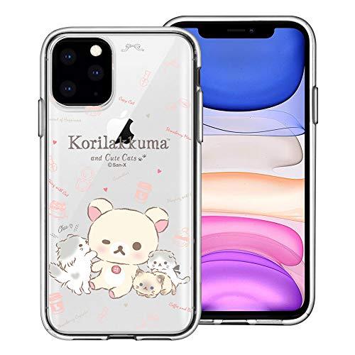 Compatible with iPhone 12 Pro/iPhone 12 Case (6.1inch) Rilakkuma Clear TPU Cute Soft Jelly Cover - Korilakkuma Cat