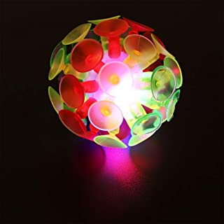 TOYANDONA 5pcs Suction Cup Ball Toys Glowing Ball Suction Cup Bounce Balls Kids Plaything Party Toy for Children Kids