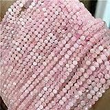YSTSPYH Piedras Preciosas Piedra Natural facetada Pequeño 2 3 4 mm Cuarzo de Cuarzo Beads Joyería Haciendo Pulseras de Collar (Color : NO.8 Pink Morgan, Item Diameter : 4mm)