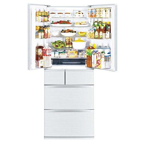 三菱 605L 6ドア冷蔵庫(シルクホワイト)MITSUBISHI 置けるスマート大容量 切れちゃう瞬冷凍 MR-JX61Y-W