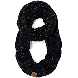 Confetti Soft Chunky Pullover Knit Long Loop Infinity Hood Cowl Scarf