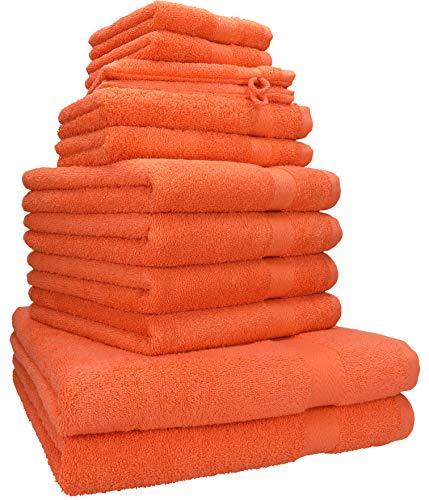 Betz Juego de 12 Toallas Premium 100% algodón Color Naranja sanguíneo