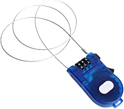 AAGOOD Intrekbaar kabelslot, 3 poten, kabelslot, intrekbaar, veiligheidskabelslot, wachtwoord, voor bagage, fiets, blauw, ...