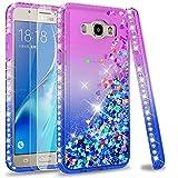 LeYi Compatible with Funda Samsung Galaxy J7 2016 Silicona Purpurina Carcasa con [2-Unidades Cristal...