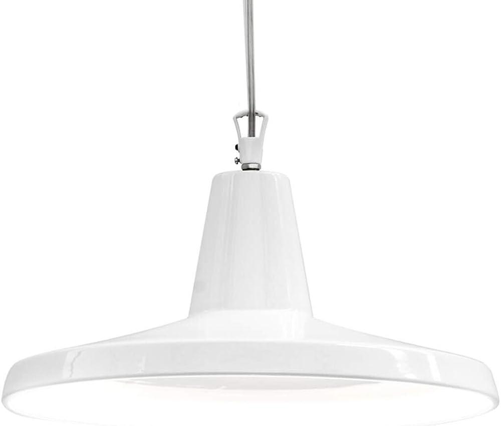 Karman gangster, lampada a sospensione Ø50 cm, con interno bianco lucido,in ceramica SE641BB