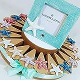 bomboniere tema mare stella marina ceramica magnete torta portaconfetti con centrale a seconda della scelta (torta con cornice Carlo Pignatelli)