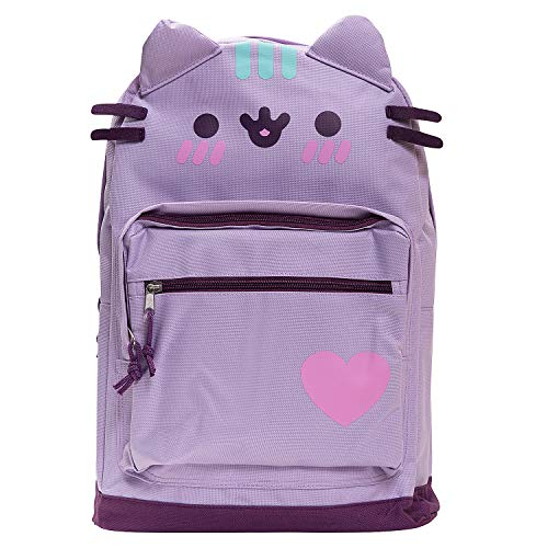 Pusheen The Cat Backpack Standard Size Backpack for Girls Everyday Use- Purple