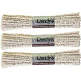 3 BUNDLES Randy's Pipe Cleaners ~ Hard Bristle ~ 132 Ct total ~ 100% Cotton by Randy's Hard Bristle Pipe Cleaners