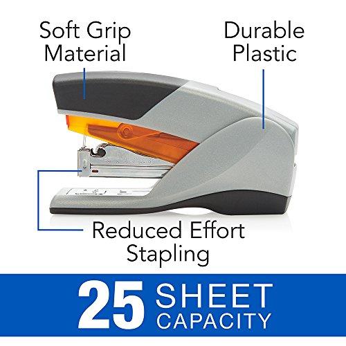 Swingline Stapler, Optima 25, Compact Desktop Stapler, 25 Sheet Capacity, Reduced Effort, Orange/Gray (66412) Photo #5