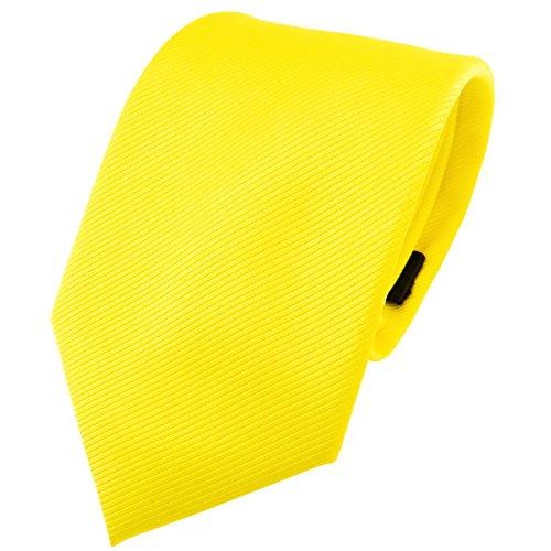 TigerTie - Corbata - amarillo en flor amarilla amarillo neón monocromo Rips