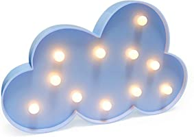 Jozocy 3D Cloud Lamp Sign Night Light, Children's Bedroom Home Decorate Nursery Lamp LED Wall Lamp,Kids' Room Décor