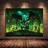 Weibing Decoración del hogar Póster Pintura World of Warcraft 8.0 Mapa al óleo Lienzo Arte en Lienzo Arte de la Pared Decoración en Lienzo 50x70cm Q-1569