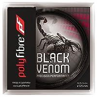 【12Mカット品】ポリファイバー ブラックヴェノム(1.15/1.20/1.25/1.30mm) 硬式テニスガットポリエステル ガットPolyfibre Black Venom (1.15/1.20/1.25/1.30) strings ブラックベノム (1.15mm) [並行輸入品]