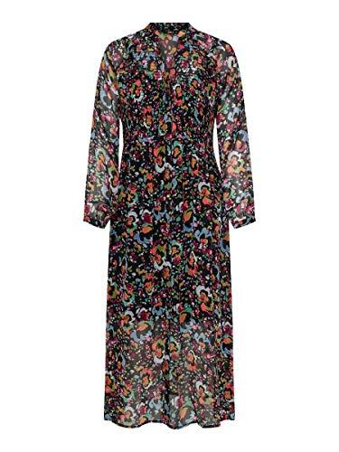 Only ONLEVELINE L/S Midi Dress WVN Vestido, Negro, 40 para Mujer