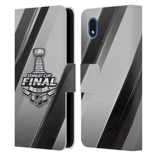 Head Case Designs Licenza Ufficiale NHL Strisce 2 Finale della Stanley Cup 2021 Cover in Pelle a Portagoglio Compatibile con Samsung Galaxy A01 Core (2020)