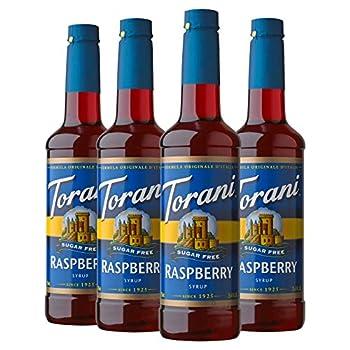 Torani Sugar Free Syrup Raspberry 25.4 Ounces  Pack of 4