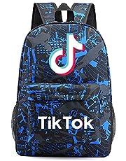 KATKAL TIK TOK Zaino, borsa per la scuola per bambini zaino da viaggio zaino versatile ideale borsa a tracolla zaino sacco di stoccaggio ragazzi ragazze regalo di compleanno