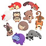 VLOOK Fridge Magnets Kids Cartoon Zoo Animal Magnetic Toys Toddler Refrigerator Magnets for Whiteboard Baby Magnets