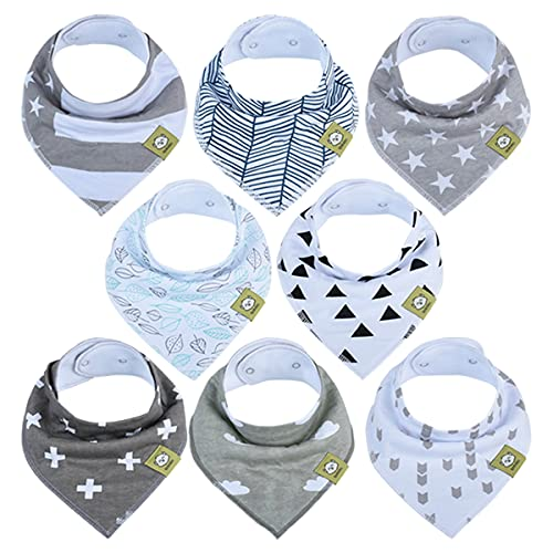 Bandana Bibs for Boys, Girls by KeaBabies
