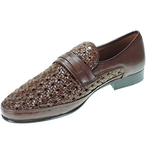 Jam 805 Zapato de Verano Trenzado de Piel y Piso Cuero para Hombre LIBANO Talla 42
