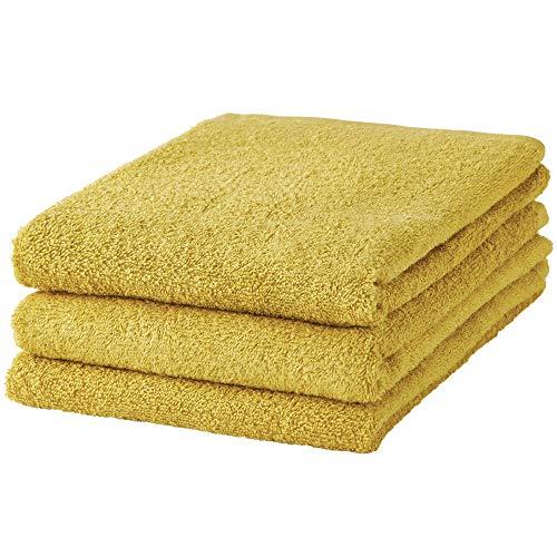 GamachaTowel 9色から選ぶバスタオル 3枚セット (オリーブオイル)