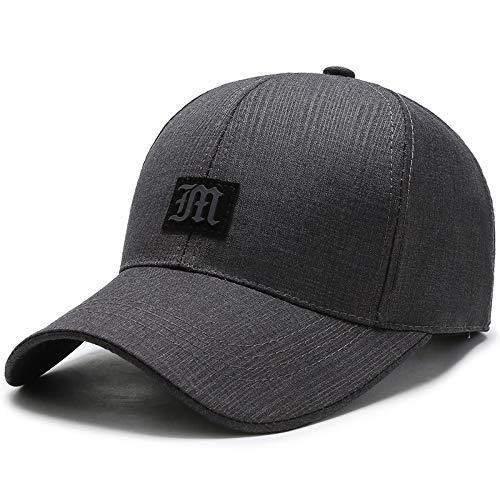 Baseballmütze Outdoor-sportmütze Hut Mode Lässig Sonnenhut 56-60CM Mittleres Leder grau