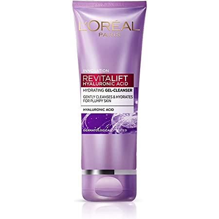 L'Oréal Paris Revitalift Hyaluronic Acid Hydrating Gel Cleanser, 50 ml | Gentle Facewash for women | Cleanses impurities & makeup residue 50ml