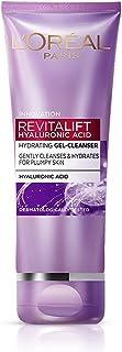 L'Oréal Paris Revitalift Hyaluronic Acid Hydrating Gel Cleanser, 50 ml | Gentle Facewash for women | Cleanses impurities &...