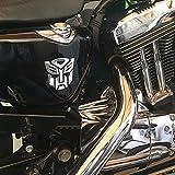 2pcs / car 3D car Sticker Transformer Badge Decepticon Emblem Logo Tail Sticker Cool Autobot Logo car Styling Motorcycle auto Parts,2Autobot