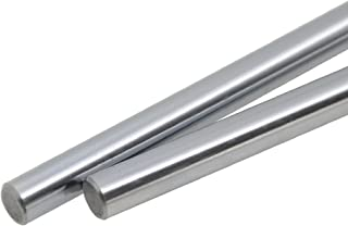 ReliaBot 2PCs 8mm x 600mm (.315 x 23.62 inches) Case Hardened Chrome Plated Linear Motion Rod Shaft Guide - Metric h8 Tolerance