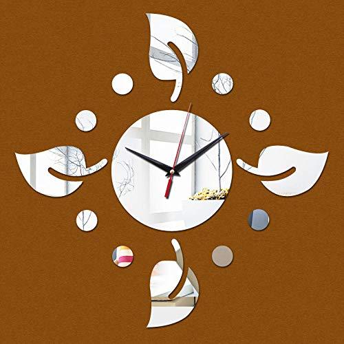 Relojes De Pared Reloj De Pared 3D A La Moda Caja Fuerte Decoración Moderna Para El Hogar Relojes De Espejo De Cristal Diy Sala De Estar Reloj Artístico Para Niños Salón Escuela Café C