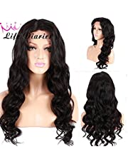 No Tangle 10A Pre Plucked Natural Body Wave Natural Color Brazilian Virgin Human Hair Wigs for All Skin Women