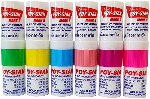 POY-SIAN Mark II Menthol Nasal Inhaler Poysian (Pack of 6)