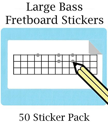 Large Bass Fretboard Stickers (50 Pack) 12 Frets (FREE SHIPPING AT CHECKOUT)