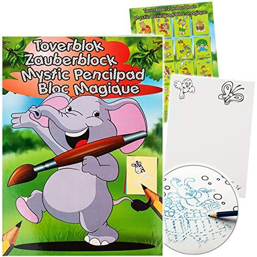 alles-meine.de GmbH Malbuch / Malblock - A5 - Zauberpapier - Zauberblock - lustige Tiere / Zootiere & Haustiere - Zaubermalblock Zaubermalbuch - für Stifte & Bleistift - Bastelbu..