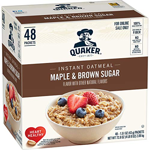 Best quaker instant oatmeal maple brown sugar – 40ct for 2020