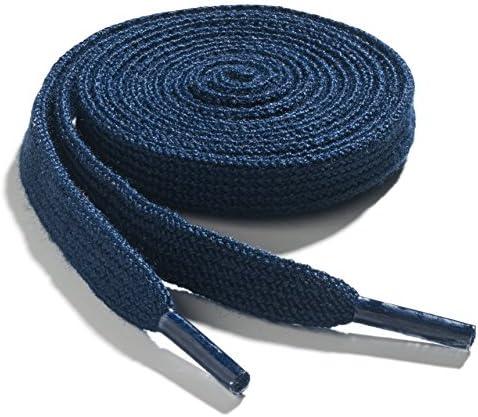 OrthoStep Narrow Flat Athletic 42 inch Navy Blue Shoelaces High Durability Shoe and Sports Shoelaces product image