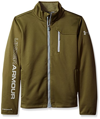 Under Armour Boys Storm ColdGear Infrared Softershell Jacket, Greenhead (374)/Steel, Youth Large