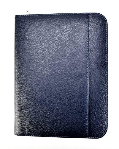 Cartella portadocumenti formato A4, per uso personale, esecutivo, professionale, cartellina porta blocco per scrittura e presentazioni di lavoro, colore blu