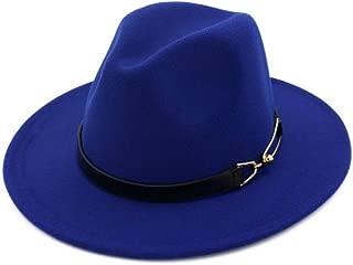 Hat Autumn and Winter Woolen hat Black top hat Fashion Casual Big Belt Buckle British Four Seasons Jazz hat