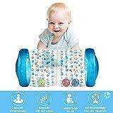 Mogoi 2019 - Rodillo inflable para bebé, para entrenamiento de arrastrar, con bola interior para ejercicio de pie y de arrastre, juguete no tóxico para arrastrar y arrastrar, juguete de aprendizaje