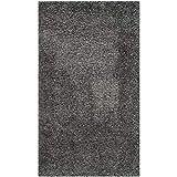 Safavieh California Premium Shag Collection SG151-8484 2-inch Thick Area Rug, 2' 3' x 5', Dark Grey