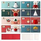 Tarjetas de Navidad de felicitación 3D, paquete de 8 tarjetas de felicitación de nido de abeja con sobres Tarjetas de agradecimiento Postales navideñas para regalos navideños