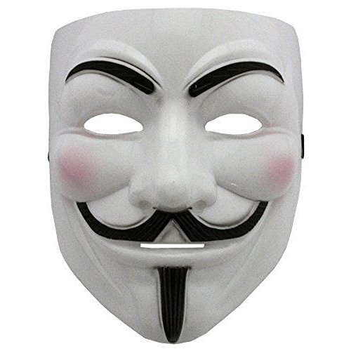 Boolavard 2015 Neue V für Rache Maske mit Eyeliner Narice Anonymous Guy Fawkes Phantasie Erwachsene Kostüm Zubehör Halloween Maske Ltd