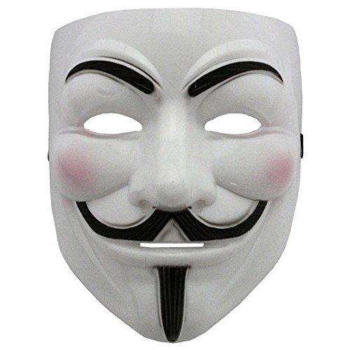 Boolavard 2015 Nuovo V per Vendetta Maschera con Eyeliner narice Anonymous Guy Fawkes Fancy Adult Costume Accessori Halloween Maschera Ltd