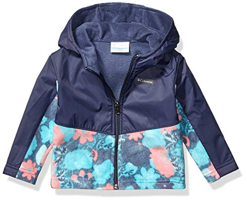 Columbia Kids' Steens Mt Overlay Hoodie, Nocturnal/Geyser Flowers, 12/18