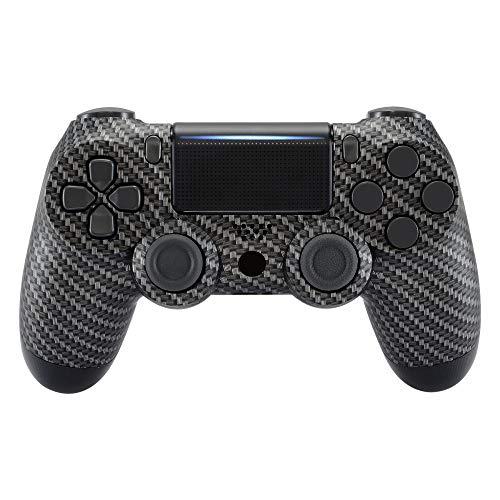 eXtremeRate Hülle für PS4 Controller,Vorderseites Case Gehäuse Cover Schutzhülle Oberschale Skin Schale für Playstation 4 PS4 Slim Pro Controller JDM-040 JDM-050 JDM-055(Carbon Fiber)
