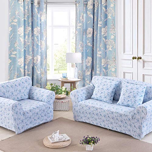 Fsogasilttlv Sofa Bed Covers Furniture Protector 2 Seater and 4 Seater,Sofa Cover Stretch Printed Elastic Couch Cover, Corner Sectional Slipcover Chair For The Bedroom G 145-185cm and 235-300cm(2pcs)