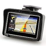 Motocicleta de navegación de navegación por satélite GPS Versión 4.3' a Prueba de Agua IPX7 Motocicleta de Bluetooth GPS Navigator Moto con los mapas Libres 8G del Flash for el Coche Motobike