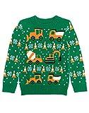 Kinder Weihnachtspullover Traktor und Bagger
